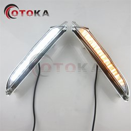 Wholesale Buick Encore - 2pcs LED Waterproof style 12V Car DRL daytime running lights with Fog lamp hole for BUICK Encore For Opel Mokka 2012-2015