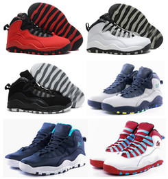 Wholesale Cities Pvc - Men 10 10s Paris NYC CHI Rio LA Hornets City Pack Vivid Pink Mens Basketball Shoes Sports Sneakers 10s With Box