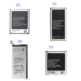 Wholesale Batteries For S4 - High Quality Phone battery for Samsung Galaxy S3 S4 S5 S6 Edge Note 4 Cellular Bateria Akku