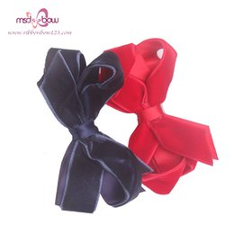Wholesale Silk Hair Bows For Girls - Wholesale-High Quality Handmade 4 Piece  Set Polyester Silk Boutique Hair Bows With Clip Hairpins For Women Girls Hair Accessories FJ00202