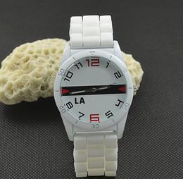 Reloj de pulsera analógico mujer online-Casual mujeres hombres unisex animal cocodrilo estilo dial de silicona correa analógica cuarzo reloj