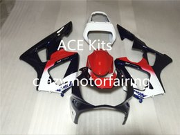 Wholesale Honda Cbr929rr Fairing Red Injection - 3 Gifts New ABS Injection Fairings set For CBR 00 01 CBR929RR CBR 929 929RR 900RR CBR900RR 2000 2001 Cool Red White glossy SQ