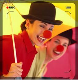 2019 partiti di circo Cartoon party Fun Red Nose Foam Circus Clown Nose Comic Supplies Accessori Halloween Costume Magic Dress Forniture per feste partiti di circo economici