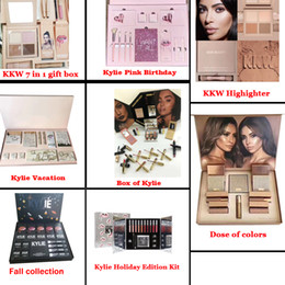 Wholesale Makeup Gift Sets Wholesale - 2017 kylie gift box Bundle Makeup set take me on vacation,Send me more Nude,Shinny Dip,Ultra glow,the wet set,June bug,Gloss DHL