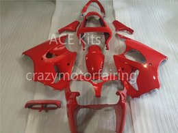 Wholesale Nice Aa - 3 Free Gifts New Injection Mold ABS Fairing Kits for Kawasaki Ninja ZX6R 6R 636 2000 2001 2002 nice red glossy AA