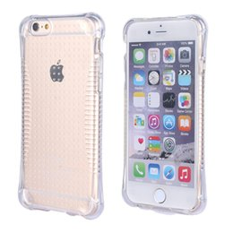 Wholesale Iphone Generation Cases - Shock proof Clear Gasbag Air Cushion Soft TPU Cellphone Case For iphone 5s 5g Second Generation Phone Protect Cases 100pcs lot