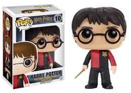 Wholesale Q Dress - Hot sale anime figure pvc toys Q ver POP Harry Potter Harry Potter with red dress Hermione Severus snape boxed 10CM gift for children