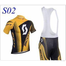 Wholesale Scott Cycling Bib Sets - new kind SCOTT Short Sleeve Cycling Jersey and Cycling Bib Shorts Kit SCOTT Cycling Clothing Set SIZE:XS-XXXXL S02