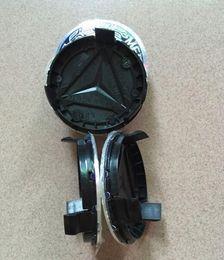 Wholesale Light For Mercedes - 4pcs 75mm For Mercedes wheat wheel Hub Cap Emblem Light C180 C200 C280 E200 E260 E300 ML350 A1714000025 W230 W210 W164