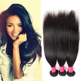 Wholesale Malasian Virgin Hair Weave - Malaysian Virgin Hair Straight Human Hair Extensions 100% Unprocessed 7A Malasian Virgin Hair Wholesale 100g pcs Human Hair Weave 3pcs Lot