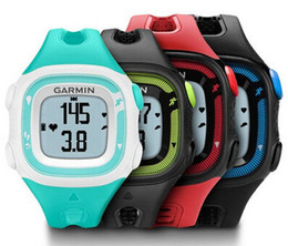 Wholesale English Training - Wholesale- GPS running watch garmin Forerunner 15 gps outdoor running multfuction outdoor sports training watch without heart rate belt