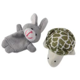 Wholesale Tortoise Hare - 2pcs Set 2016 New Hare And Tortoise Story Cute Children Plush Toys Fairy Tale Finger Puppets Hot Sale