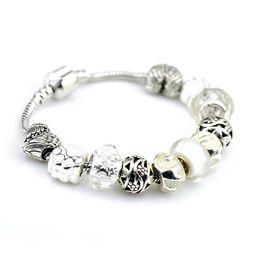 Wholesale Steel Pandora Charms - DIY Heart alloy accessory for Pandora Bracelet silver plating Bracelet With Crystal Jewelry Fits Pandora Bracelets Serozha Pave Sparkling