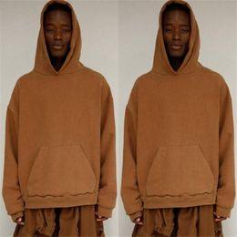 Capuz preto de capuz oversized on-line-Streetwear Hip Hop Khaki / Preto / Verde de lã oversized Hood Hoodie drake urbano Roupas citi tendências Roupas Hoodies Homens