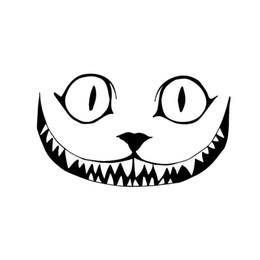 Nuevo diseño de etiqueta de coche online-Nuevo Diseño Gruñido Sonrisa Cara Halloween Horror Vinilo Etiqueta Engomada Del Coche Ventana Decoración Decal Jdm