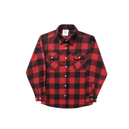 Wholesale Fashion Stands - 2017 the new European and American street lattice classical paragraph men and women lovers wear casual long sleeve shirt
