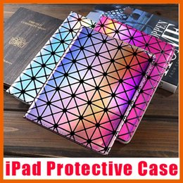 Wholesale Google Pvc - Protective Case Laser Diamond Leather Cases Folding Folio Cover For Air Mini iPad 1 2 3 4 5 6