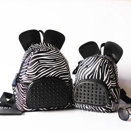 Wholesale Kids Bag Zebra - Cute Zebra Bags For Mother And Daughter Backpacks Children Leisure Bags Kids Boys Girls PU Backpacks Child School Bags