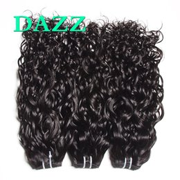 Wholesale hair weave supplies - DAZZ Remy Human Hair Bundles Deal Water Wave Hair Extensions Wet And Wavy Raw Virgin Indian Hair Weave Bundles Weft Wholesale Factory Supply