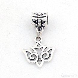 Wholesale Tribal Beads Wholesale - Hot ! 200pcs Antique Silver Alloy TRIBAL STYLE SWALLOW BIRD Charms Dangle Bead Fit Charm Bracelet 15X27MM DIY Jewelry
