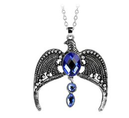 Wholesale Vintage Sapphire - free shipping Europe and the United States hot harry potter ravenclaw vintage necklace magic academy lost crown jewelry #3105