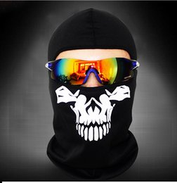 Wholesale Skull Dust Caps - Skull Bandana male and female army fans Outdoor Cycling Motorcycle hat ride mask dust mask sunscreen skiing wigs black hat ZA0105