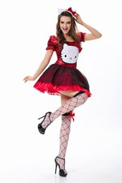 Wholesale Cat Costume Short - Classic Alice Fairytale Carnival Costumes In Wonderland Movie Alice Costume Women Deluxe Alice kitten Halloween cosplay cat animal costume