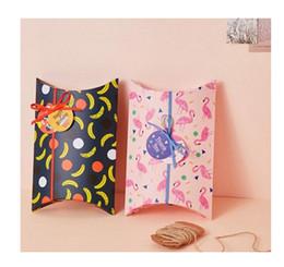 Wholesale Banana Boxes - 2017 New hot sale good Creative paper pillows and printed banana Flamingo cookies boxes, candy boxes