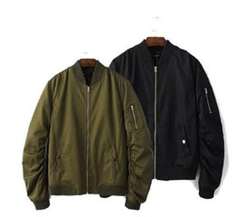 Wholesale Mens Green Cotton Jacket - New men women spring Autumn clothing streetwear casual jacket hip hop mens jackets and coats MA1 bomber Army green Jacket Outerwear