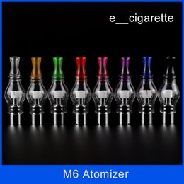 Wholesale Atomizer M6 - Electronic cigarette M6 Clearomizer Anti-oxidation 4.0ml Cartomizer for Electronic Cigarette M6 Atomizer Clearomizer Wax M6 Atomizer DHL