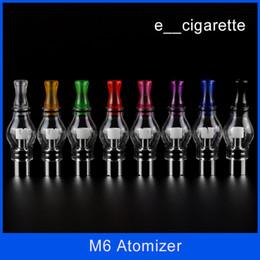Wholesale Electronic Cigarette Atomizer Cartomizer - Electronic cigarette M6 Clearomizer Anti-oxidation 4.0ml Cartomizer for Electronic Cigarette M6 Atomizer Clearomizer Wax M6 Atomizer DHL