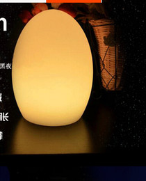 Wholesale Lampe E14 - Fashion D14 Colorful changed rechargeable LED Egg night light to fit tables of hotels and restaurants lampe de rable sans fil