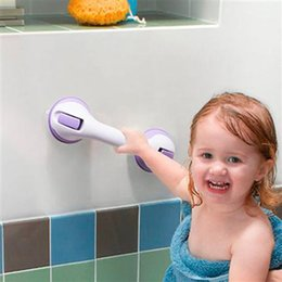 Wholesale Toilet Suckers - Safety Helping Handle Anti Slip Support Toilet bthroom safe Grab Bar Handle Vacuum Sucker Suction Cup Bathroom Grab Bar Non-slip Support