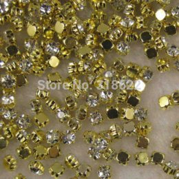 Wholesale Crystal Sew 5mm - +SS25(5mm)  720PCS set Silver Loose Crystal Sew On Rhinestone Beads,Metal Findings Flatback Garment Accessories M68747 garment accessories