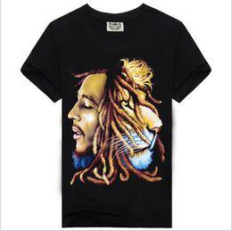 Wholesale Wholesale Bob Marley T Shirts - 30PCS 2016 BOB MARLEY print new style round neck t shirt rock sir style promotion price Free Shipping