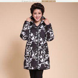 Wholesale Dress Big Bust - Wholesale-Plus size XL-4XL 5XL 6XL (Bust 135 cm) Middle-aged and old clothing Big yards padded mother dress autumn winter coat