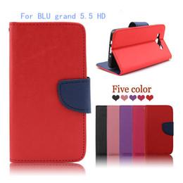 Wholesale Grand Photos - For BLU studio c 8+8 dash x 2 grand 5.5 HD Luxury Flip wallet Case Cover Photo Frame Card Slots