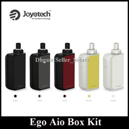 Wholesale Ego Boxes - Original Joyetech EGO AIO Box Kit 2100mAh Built In Lipo Starter Kit 5 Colors Top Refilling Sub Ohm