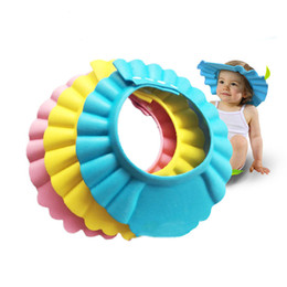 Wholesale Shower Shield For Kids - Adjustable Shower cap protect Shampoo for baby health Bathing bath waterproof caps hat child kid children Wash Hair Shield Hat