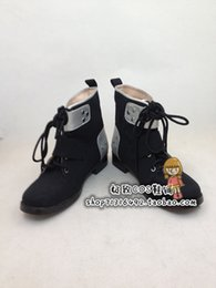 Wholesale Swords Costumes - Wholesale-Sword Art Online Kazuto Kirigaya Cosplay Boots shoes new version #JZ0109 hand made Custom made