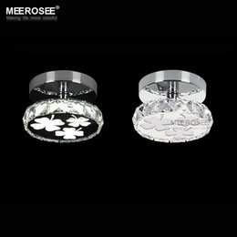 Wholesale Small Led Ceiling Light Fixtures - Hot sell New LED ceiling lighting fixture Modern Crystal Flush Mounted ceiling light small light for Hall way(price for 1 bulb)