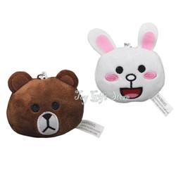 "Wholesale Stuffed Love Bear - Free Shipping Star Love Cute Bear Plush Keychain Toys And Rabbit Stuffed Toys 2.5"" New Gifts"