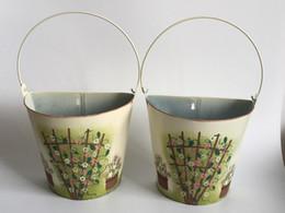 Wholesale Decorative Wall Baskets - Garden Supplies wall Mounted planter Hanging Planter Basket garden bucket pots Wedding Decoration vintage decorative Vase