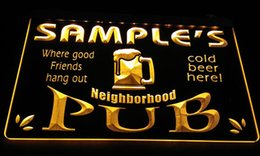 Wholesale home pubs - LS587-y Name Personalized Neighborhood Home Bar Pub Beer Neon Light Sign