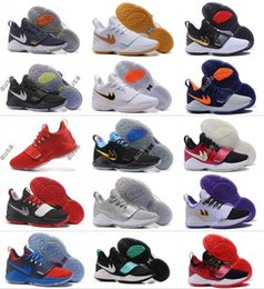 Wholesale I Shoes Boots - 2017 New Men Paul George PG 1 Dream Off Hook Zoom Low Basketball Shoes Adult I Glacier Grey Ivory Ferocity Sports Basket Ball Sneakers