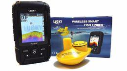 Wholesale Free Wireless Finder - Wholesale-Free Shipping!Lucky FF718LiC Wireless Portable Fish Finder 45M 147Feet Sonar Depth Waterproof Fishfinder Ocean River Lake