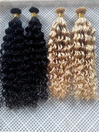 """Wholesale Curly Remy Hair Styles - New Style Hair Products V-tip Probonded Hair Extensions 14""""-28"""" 100g Deep Curly Brazilian Peruvian Indian Human V-tip Hair Extesnions"""