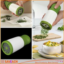 Wholesale Parsley Herbs - Herb Mill Parsley Shredder Chopper Cutter Mince Stainless Steel Blades kitchen knives Safely Grind Cooking Tools