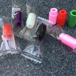 Wholesale Disposable Rubber Tips E Cigarette - E cigarettes Disposable drip tips Individually Wrapped Silicone Rubber Test Tester Drip Tips Colors DHL Free Ship
