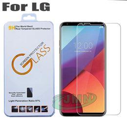 Wholesale Phone Q8 - 0.26mm Tempered glass phone screen protector film for LG G5 G6 Q6 V30 Q7 Q8 Q10 K3 K4 K5 in retail box